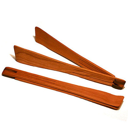 Cherry wood folding tongs