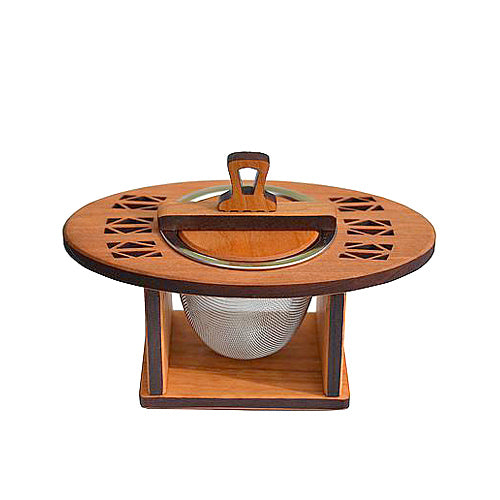 Cherry wood tea strainer sets