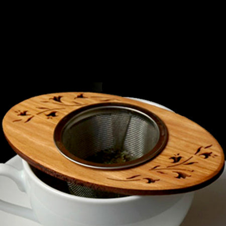 Cherry wood tea strainers