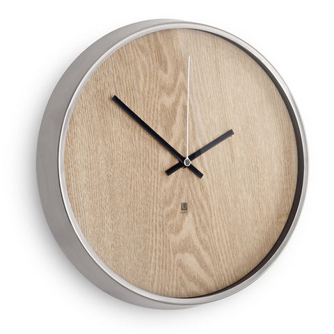 Madera clock with natural wood face