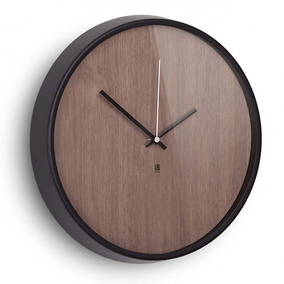 Madera clock with walnut face