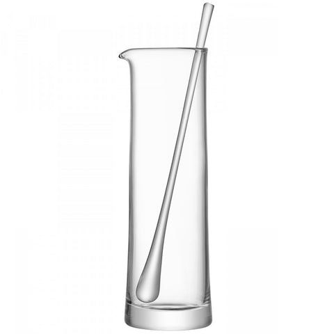 Martini/cocktail pitcher with glass stirrer