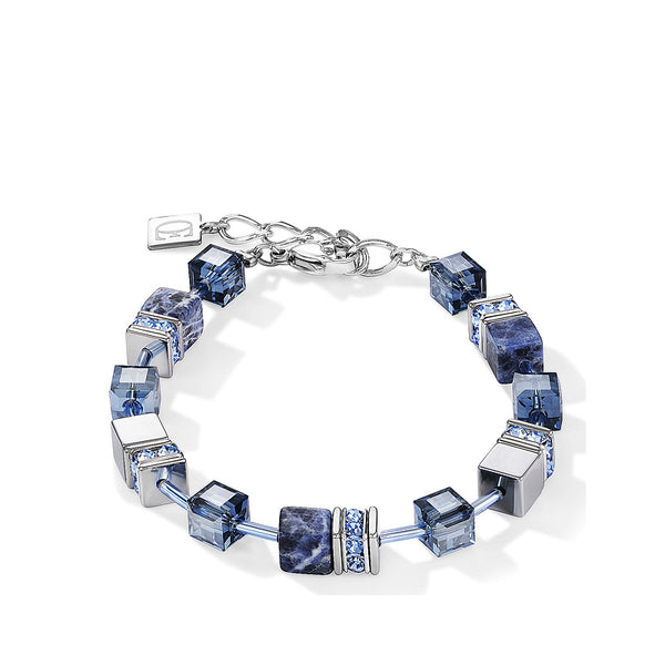 Coeur de Lion sodalite cubes and crystals bracelet