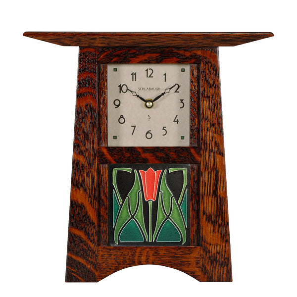 Craftsman clock with Motawi tile inset