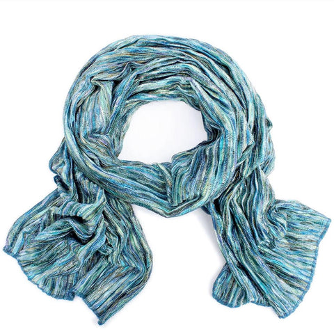 Crinkle knit soft scarf