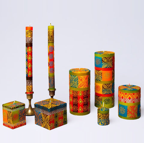 South African Desert Rose hand-painted dripless candles