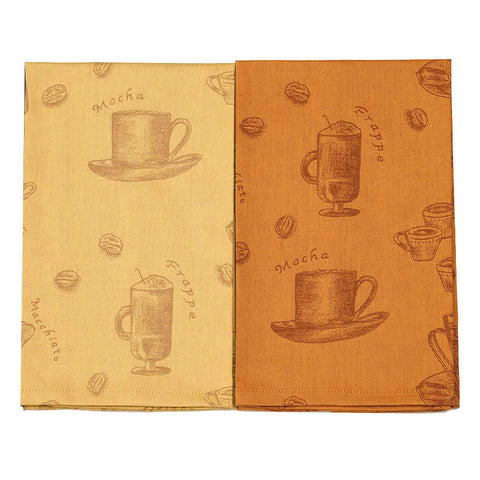 Bodrum Cafe organic cotton dish towels, set of 2