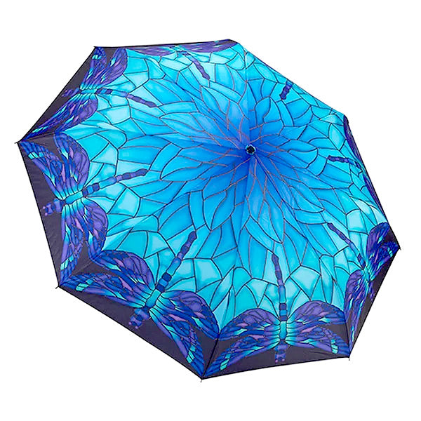 Automatic wind-resistant umbrella, dragonfly design