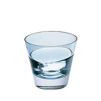 Sugahara Duo Indigo fused old fashioned glass