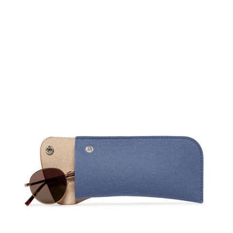 Merino wool felt snap-close eyeglass case