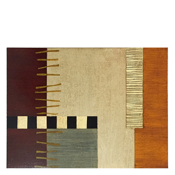 Hand-painted wood placemats, Ladders-brown