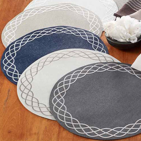 Bodrum Helix vinyl easy-care placemats, set of 6
