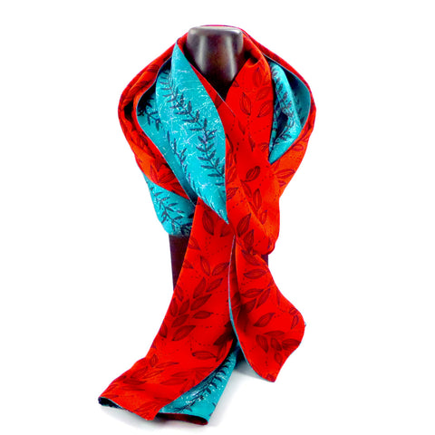 Double-sided charmeuse silk scarf