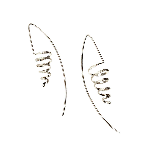 Kathleen Maley silver or gold vermeil spiral coil earrings