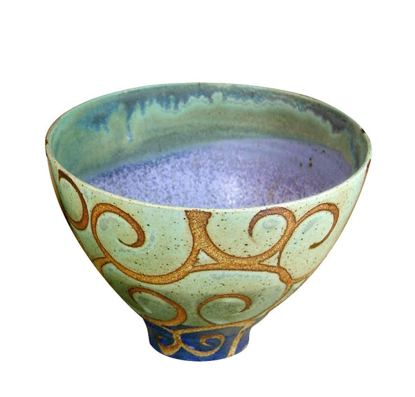 Tall round ceramic bowl
