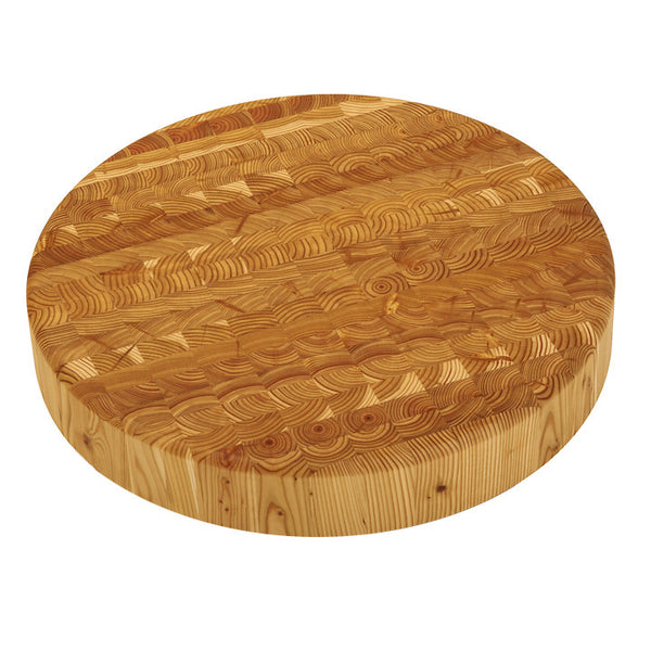 Larch wood professional chef's round boards