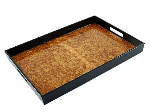 Lacquered wood large serving trays