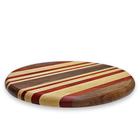 Striped lazy susan turntable