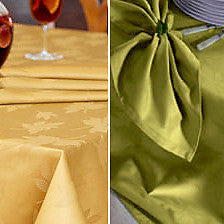 Bodrum Leaves cotton damask napkins, set of 6