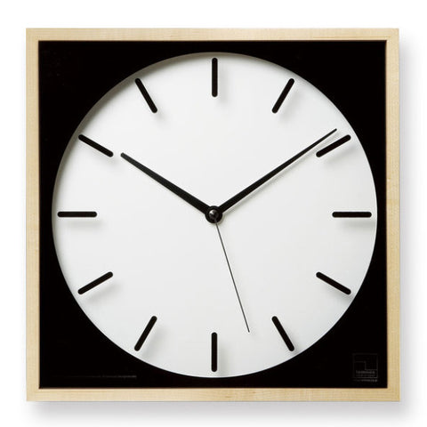 Silent square wall clock