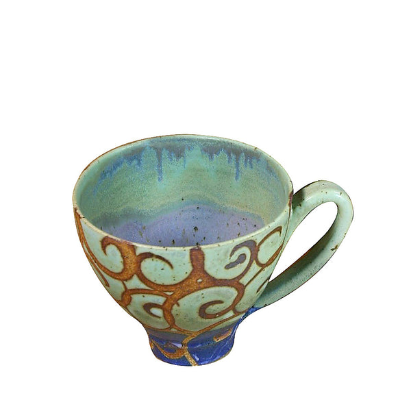 Extra-large handcrafted ceramic mug