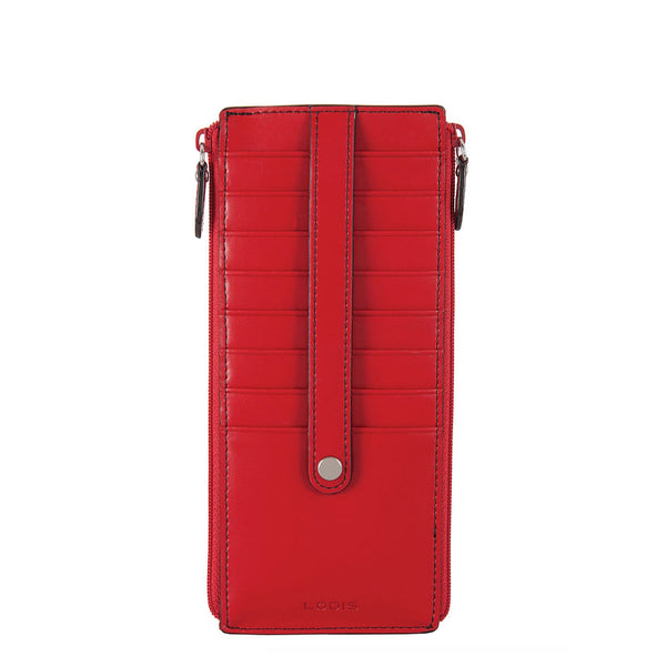 Lodis Audrey double-zip credit card wallet - RFID safe