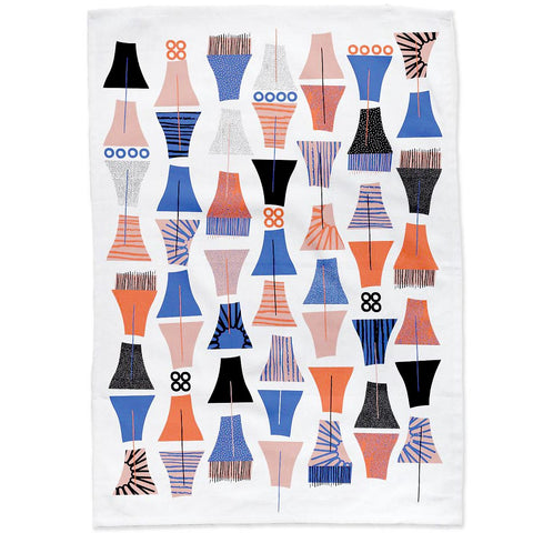 Modern abstract cotton tea towel #5