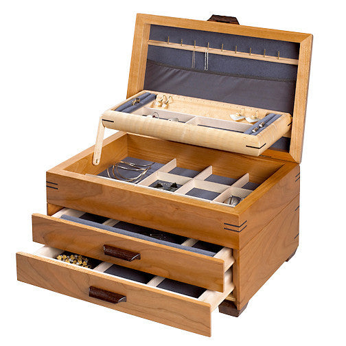 Mikutowski jewelry chest, 2-drawer