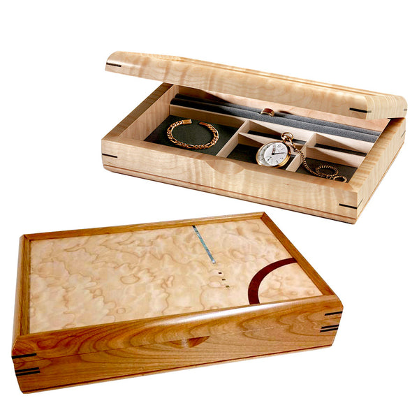 Mikutowski handcrafted wood large valet box