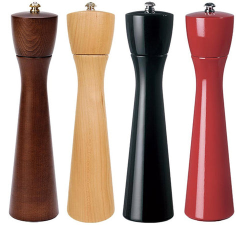 Tall wood salt and pepper mills