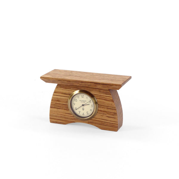 Mini mantel clock, wide