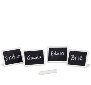 Mini-chalkboard dish or place markers, set of 4