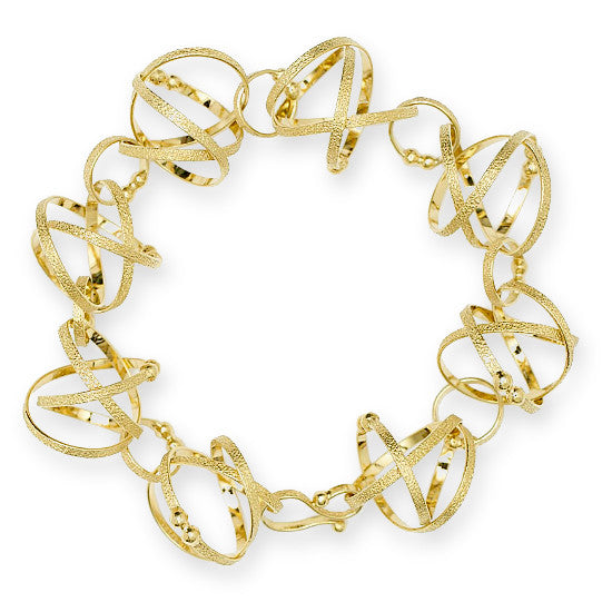 Mobius silver and gold vermeil bracelet