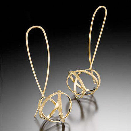 Mobius wishbone earrings