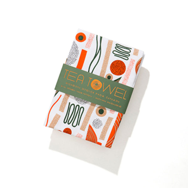 Modern abstract cotton tea towel #1