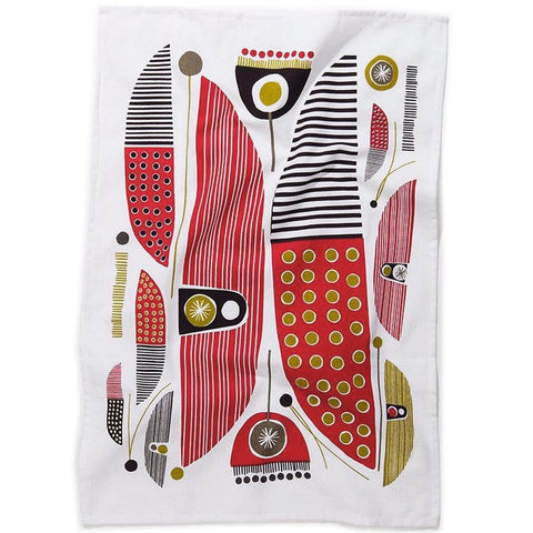 Modern abstract cotton tea towel #2