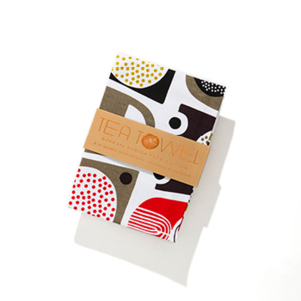 Modern abstract cotton tea towel #3