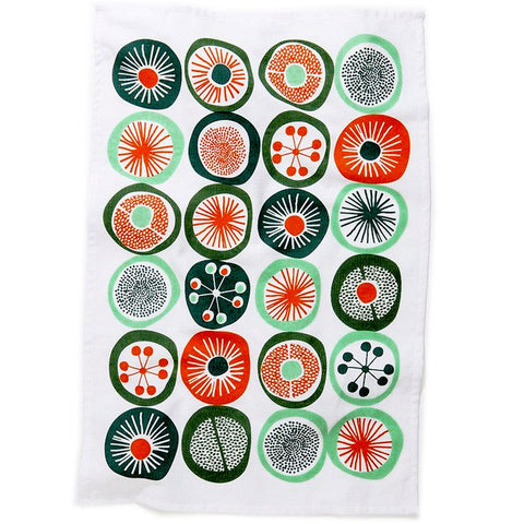 Modern abstract cotton tea towel #4