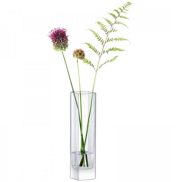 Clear modular glass vases