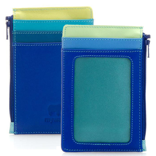 Mywalit card holder with zip pocket