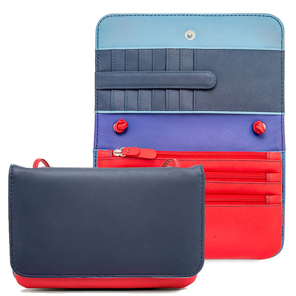 Mywalit colorblock clutch-style shoulder bag