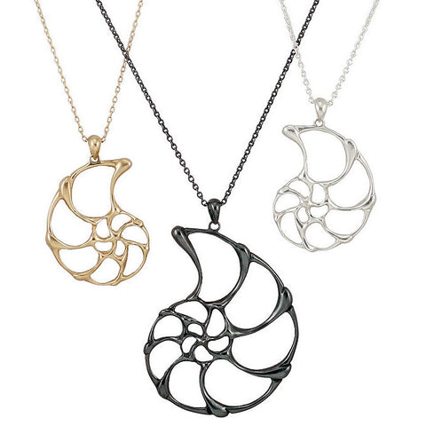 Nautilus open-work pendants