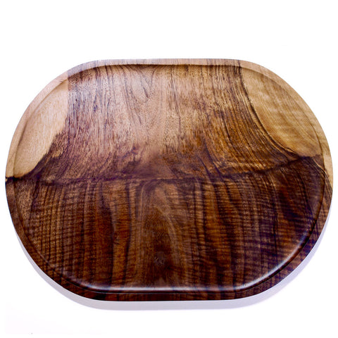 Nicasio Woodworks Wedded Wood™ large straight-sided oval tray