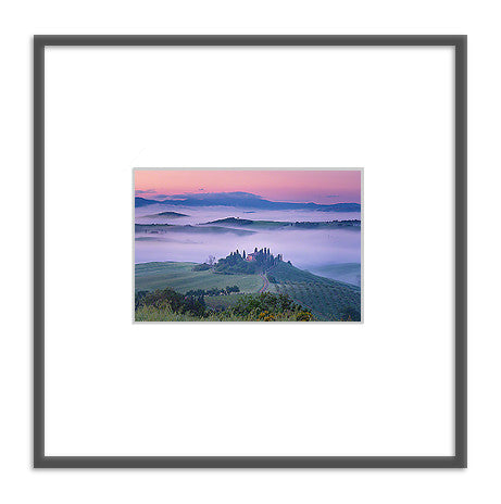 Framed photo: Foggy Hills
