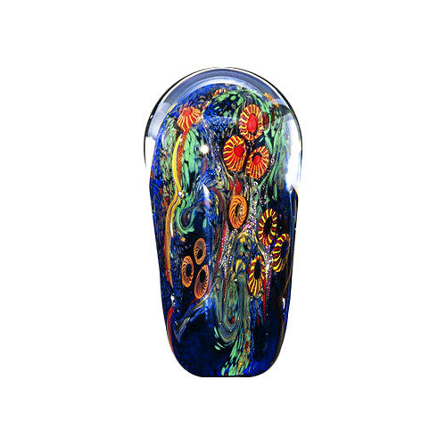 Handcrafted art glass tall paperweight by David Lindsay