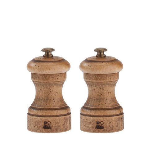 Peugeot Bistro antique wood mills, set of 2