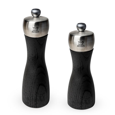 Peugeot Fidji black & stainless wood mills