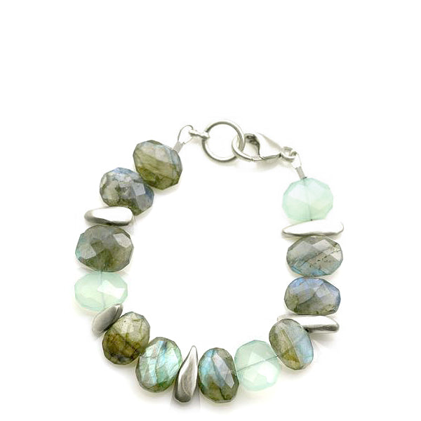 Philippa Roberts faceted labradorite and silver pebbles bracelet