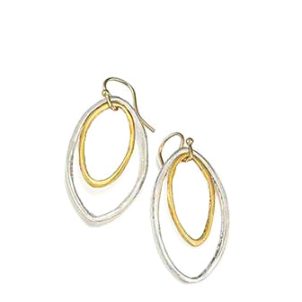 Philippa Roberts nested ovals silver and gold vermeil earrings