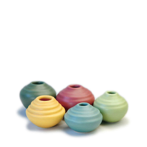 Small ceramic raindrop vases